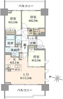 ザ・パークハウス中野弥生町テラスの間取図