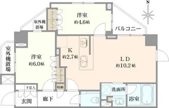 グローリオ高円寺の間取図