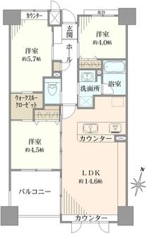 グリーンコーポ東高円寺の間取図