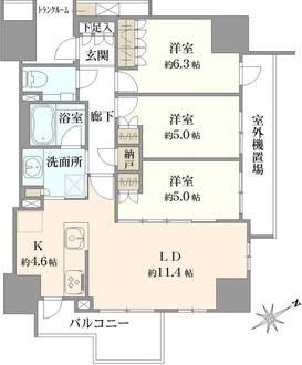 プラウド高円寺の間取図