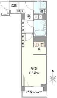 三田新中野コーポの間取図
