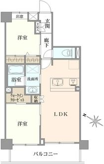 クレッセント高円寺の間取図