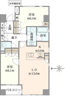 ライフェール新宿御苑ノースサイドの間取図
