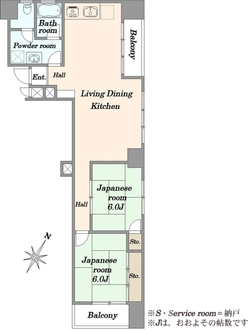 フジマンション ウィスタリアの間取図
