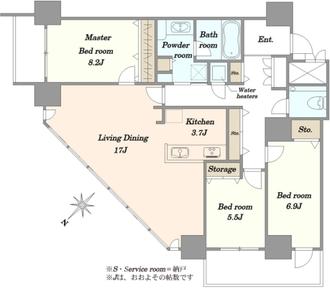 BEACON Tower Residence ビーコンタワーの間取図