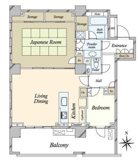 広尾ガーデンフォレスト椿レジデンス H棟の間取図