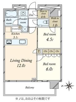 グランドメゾン白金の杜ザ・タワーの間取図