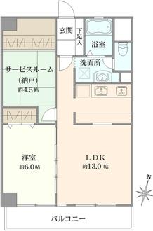 関口町住宅の間取図