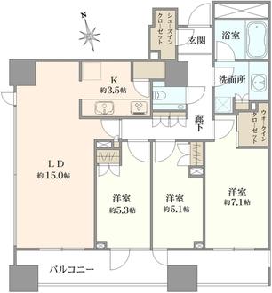 クラッシィハウス千代田富士見の間取図