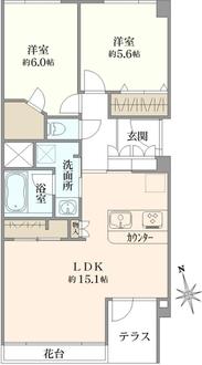 川口アパートメントの間取図