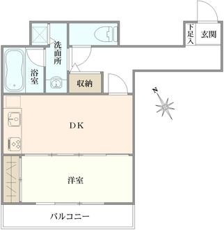 コスモ田端の間取図
