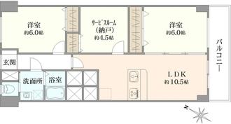 初台中央マンションの間取図