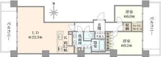 広尾ガーデンフォレスト 桜レジデンスB棟の間取図