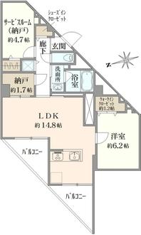 富士見台ハイツの間取図