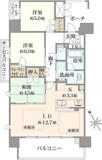 ブランズ池田栄町の間取図