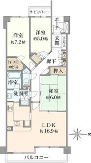 グランステイツ豊中本町寿楽荘の間取図