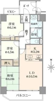 コスモ都島壱番館の間取図
