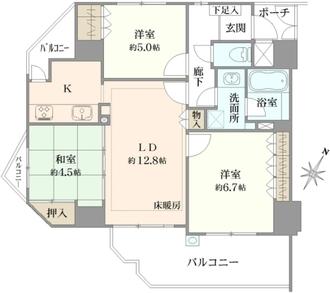 プレステージ豊中桜塚レーヴェッセの間取図