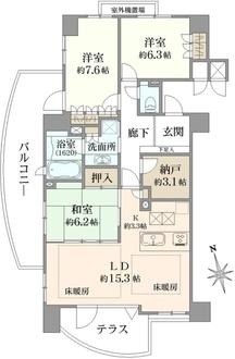 ザ・ライオンズ池田H棟の間取図
