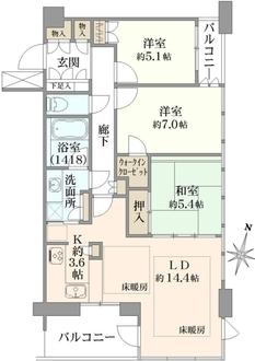 大阪ウエストゲートタワーの間取図