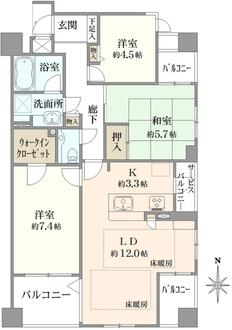 コム・グレイス豊中北桜塚の間取図