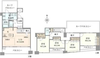 グランステイツ北桜塚の間取図