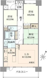ブランズ豊中上野坂駅前レジデンスの間取図