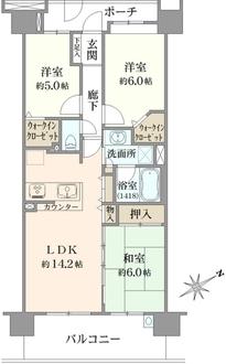 コスモ東京ガーデンパークスの間取図