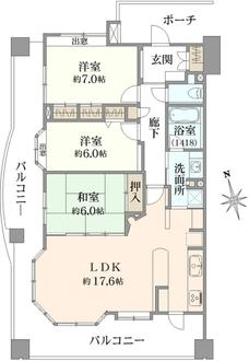 レクセルマンション石神井公園第2の間取図