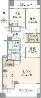武蔵野フィールド・レジデンスの間取図