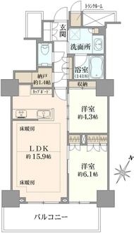 プラウドタワー石神井公園の間取図