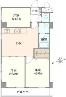 浅草ロイヤルマンションの間取図