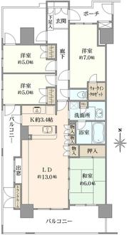 東京ビューマークスの間取図