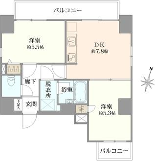 花川戸マンションの間取図