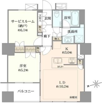 ザ・パークハウス上野浅草通りの間取図