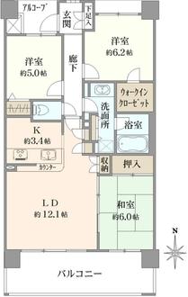 サンパティエ東京の間取図