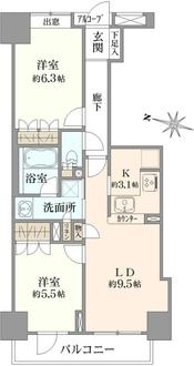根津南シティタワーの間取図