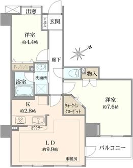 朝日上野マンションの間取図