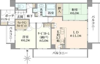 クレストフォルム上野の杜の間取図