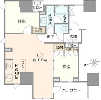 ザ・パークハウス上野レジデンスの間取図