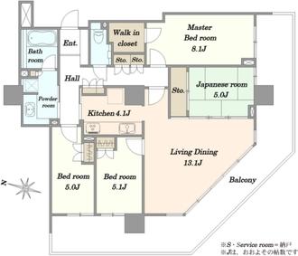 パークハウスさいたま新都心 MID TOWERの間取図