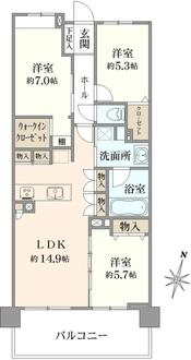 セントラルスウィート大宮桜木町の間取図