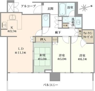 シティタワーグラン天王寺の間取図
