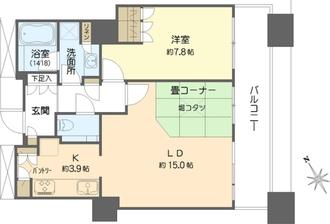 The Kitahamaの間取図