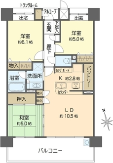 ロネスタ堺東の間取図