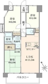 ノバ阿倍野3番館の間取図