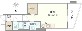 フィールU旗の台の間取図