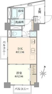 シャンボール武蔵小山の間取図