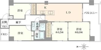 三井東別院ハイツの間取図