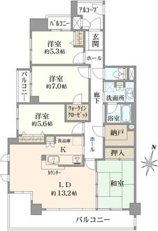 野村ステイツ社台グラン・コリナの間取図